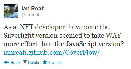 As a .NET developer, how come the Silverlight version seemed to take WAY more effort than the JavaScript version?